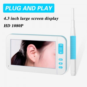 5.5mm HD 1080P 4.3inch USB Visual Ear Endoscope Camera