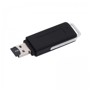 USB Flash Drive Digital Voice Audio Recorder Support TF card without Memory