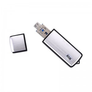 USB Flash Drive Support WAV File Format 3 in 1 Mini 8GB Spy Digital Voice Recorder
